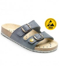 Fussbett-Sandale blau ESD