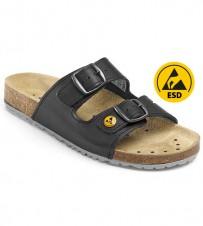 Fussbett-Sandale schwarz, ESD