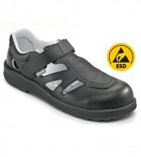 Sicherheits-Sandale schwarz S1 - Breitform Stahlkappe