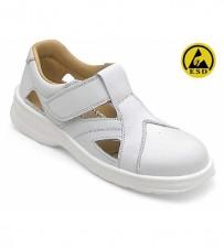 Damen-Sandale weiss EN345-1 S1