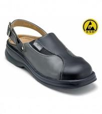 Damen-Pantolette schwarz/grau EN345-1 SB A E