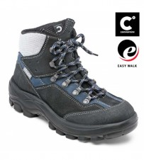 Damen-Knöchelschuh, schwarz/blau, EN ISO 20345 S2