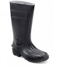 PVC-Sicherheitsstiefel schwarz, S5