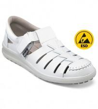 Sandale ESD weiss, metallfrei