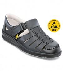 Sandale ESD schwarz, metallfrei
