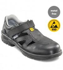 Sicherheits-Sandale schwarz S1 ESD
